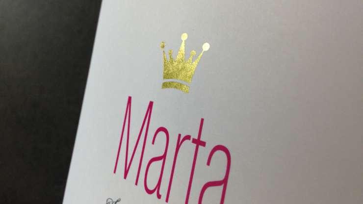 Geboortekaartje Marta