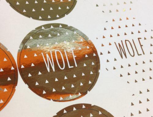 Digital foil printing Wolf